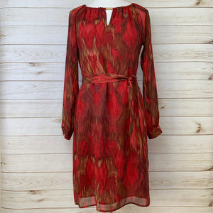 Banana Republic Heritage Red Ikat Dress Size 6